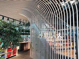 Curved design feature achieved at Chadstone restaurant with Covet's Ever Art Wood