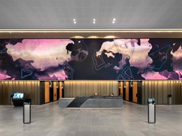 Melbourne Central Tower lobby reactivated with bespoke motion art on LED walls