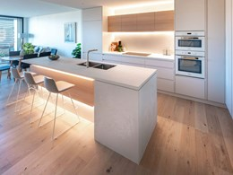 Havwoods timber flooring included in bespoke finishes at boutique apartments