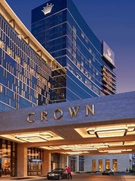 Aglo's LED architectural luminaires impress at Crown Perth entrance