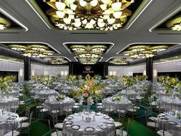 Aglo's bespoke ceiling lighting solution adds grandeur to Crown Perth's ballroom