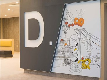 Laminex CustomArt laminate wall panels printed with artisitc illustrations