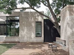 Petersen D72 bricks drive design concept in art deco house transformation