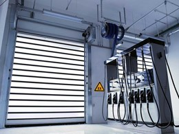 Explosion proof high speed roll doors