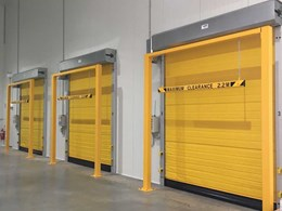 Managing cold storage warehousing efficiently with high speed doors