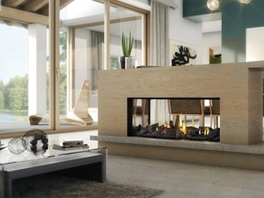 Escea's new Truly Frameless DS1150 gas fireplace