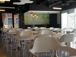 Business Interiors transforms iSelect cafe into welcoming breakout space for employees