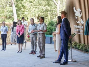 The Duke and Duchess of Sussex at the Taronga Institute of Science and Learning