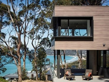 DecoClad on a house in Lorne, VIC (finish DecoWood Weathered Timber) © DECO