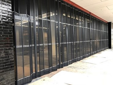 Kirrawee shopping centre featuring ATDC's stackable doors