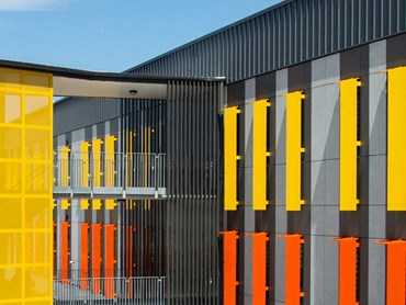 Oran Park High School featuring Dulux powdercoat colours