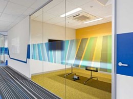 Criterion's Multiglaze 90 aluminium partitioning suite installed at Dun & Bradstreet Melbourne