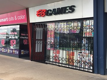 ATDC security shutters at EB Games store