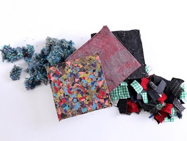 Panels made from unwanted clothes. Image: UNSW
