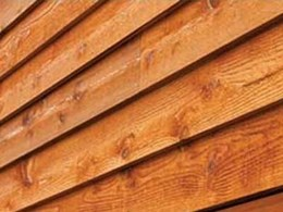 Western Red Cedar timber weatherboards offering natural resistance to rot