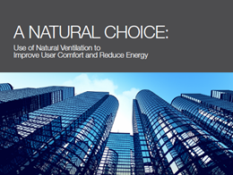 New white paper explores the use of natural ventilation to improve user comfort and reduce energy