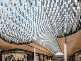 Aglo designs and installs new architectural ceiling feature at Melbourne shopping centre