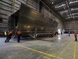 Kennards Hire Lift & Shift moves two 25T boat modules for yacht company