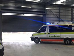 High speed Efaflex door ready for any emergency at Latrobe ambulance station