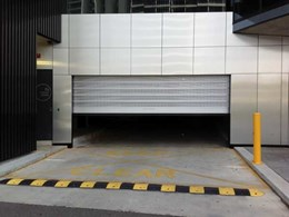 DMF's Efaflex door with ventilation panel installed at high rise carpark