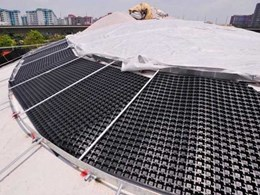 Elmich's VersiDrain 25P water retention and drainage trays help create green roof at McDonald's, Jurong Central Park