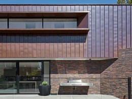 Brick and copper façade creates striking palette on Elwood home