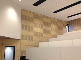 Timber veneer panels from Ultraflex Panelling meet acoustic and FR requirements at Enoggera Army Barracks