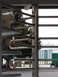 Rotech's TriStar F21 full height turnstiles controlling access and ensuring security