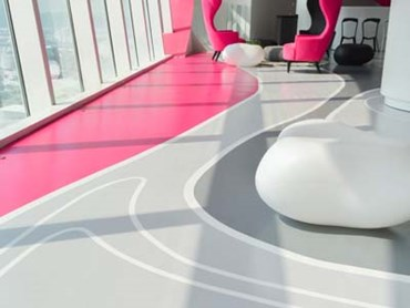 Epoxy systems allow designers to get creative with their flooring