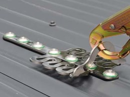 SafetyLink's permanent roof anchors for safe working at height