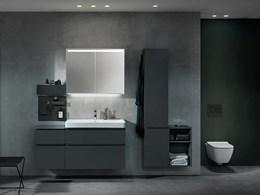 New Tone-in-Tone flush buttons for monochromatic bathroom designs