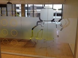Contour cut graphics on glazing for homes and offices