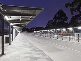 Large-span walkway-style bus shelters installed at Gordon Station Interchange, NSW