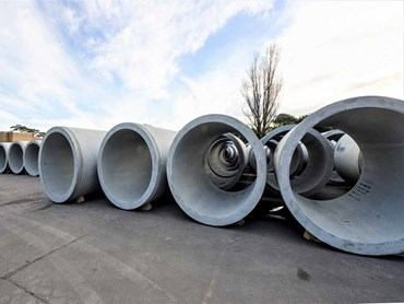 The pipes for the Green Park stormwater drain project