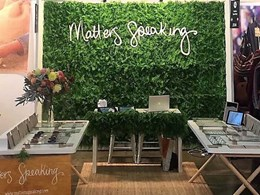 Green wall provides lush backdrop to exhibition stand