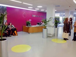 Norament rubber flooring meets high traffic challenges at Guy's Hospital, London