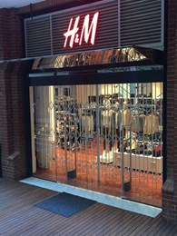 High security scissor gates installed at H&M Perth