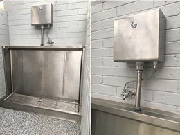 Vandal resistant certified Britex sanitary fixtures at Hanging Rock Toilet Block