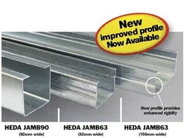 Studco adds 150mm wide jamb profile to HEDA Tough Wall system range