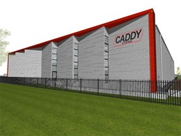Wallandra building warehouse and office facility for Caddy Storage