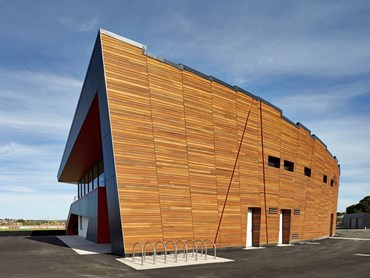 Ballarat Regional Soccer Facility by K20 Architecture. Photography by Peter Bennetts