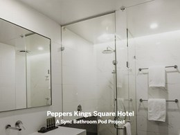 Hickory-built Perth hotel streamlines project with Sync bathroom pods