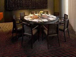 Custom Axminster carpets match colour scheme at luxury South Wharf hotel