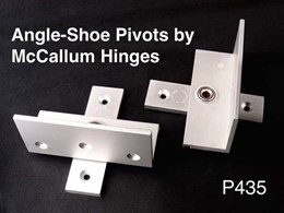 Angle-Shoe pivot hinges now made by McCallum Hinges