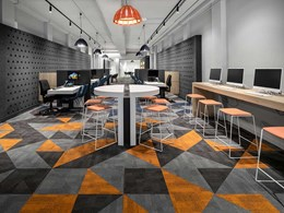 Signature carpet tiles support wayfinding and zoning at tertiary education centre