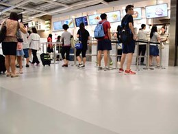 Flowcrete installs robust on-brand resin flooring for IKEA Hong Kong