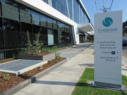 Frankston hospital extension veneered with Askin's Volcore panels