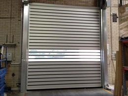 Older roller shutters replaced at Sydney warehouse with Efaflex