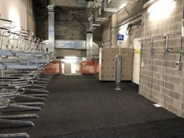 Dual height bike racks installed at Macquarie Bank in Sydney CBD