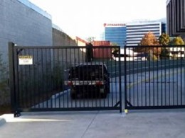 Automated swing gates installed at Mascot carpark near Sydney airport